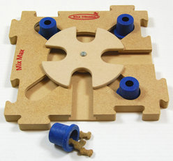 MixMax Puzzle B,blue, bois. Degré de difficulté 2.  Natural, Eco-Friendly material