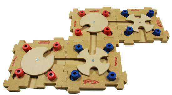MixMax Puzzle B, blue, puu. Vaikeusastetta 2. Natural, Eco-Friendly material