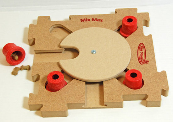 MixMax Puzzle C, red, wood. Level 3. Natural, Eco-Friendly material
