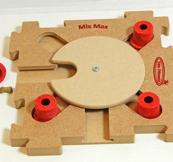 MixMax Puzzle C, red, holz. Schwierigkeitsgrad 3. Natural, Eco-Friendly material