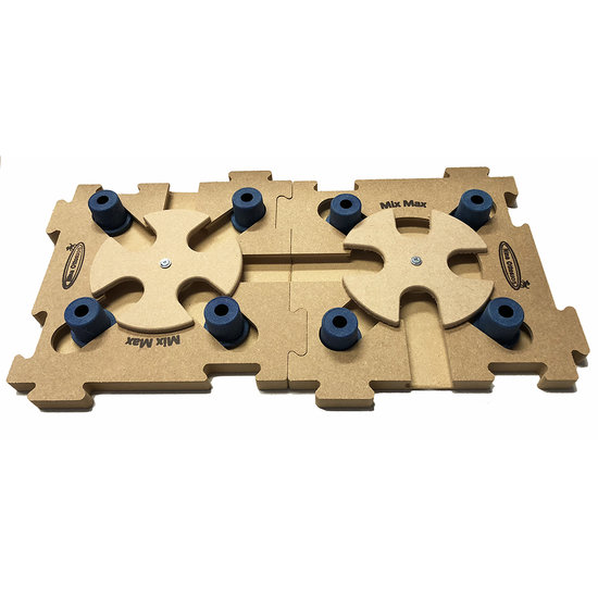 2 MixMax Puzzle B blue, legno. Grado di difficoltá 2 - 3.  Natural, Eco-Friendly material.