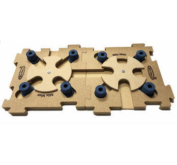 2 MixMax Puzzle B blue, wood. Level 2 - 3. Natural, Eco-Friendly material.