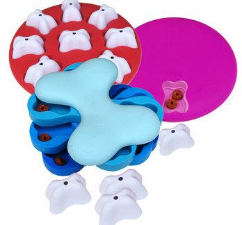 3 Activation Hundespielzeug, kunststoff. Schwierigkeitsgrade 1 & 2.
