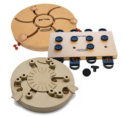 3 PUZZLE GAMES, WOOD & COMPOSITE. LEVEL 3
