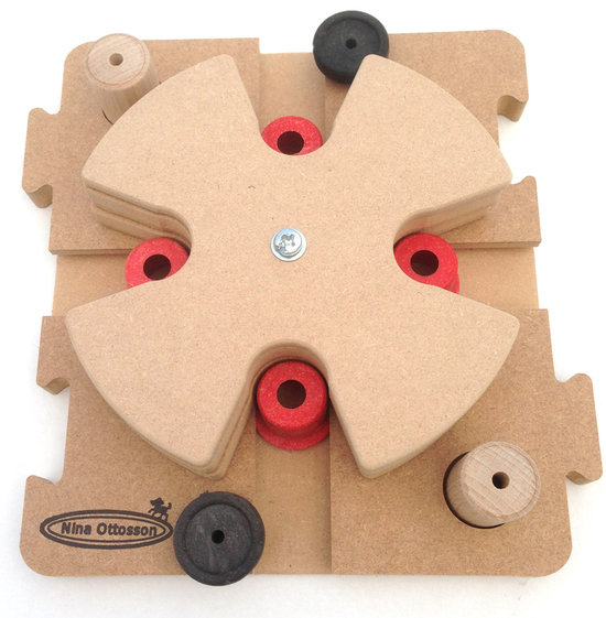 MixMax Puzzle D, hout. Moeilijkheidsgraad 3. Natural, Eco-Friendly material