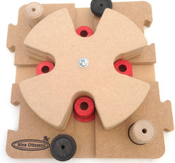 MixMax Puzzle D, wood. Level 3. Natural, Eco-Friendly material