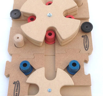 3 MixMax Puzzle B, C, D, holz. Schwierigkeitsgrad 3. Eco-Friendly material